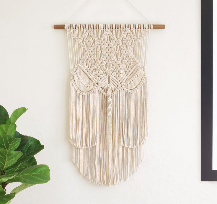 Natalee | One of a kind handmade Macramé wall hanging by Macramé Mons. One piece revealed each fortnight on a Monday ✖️