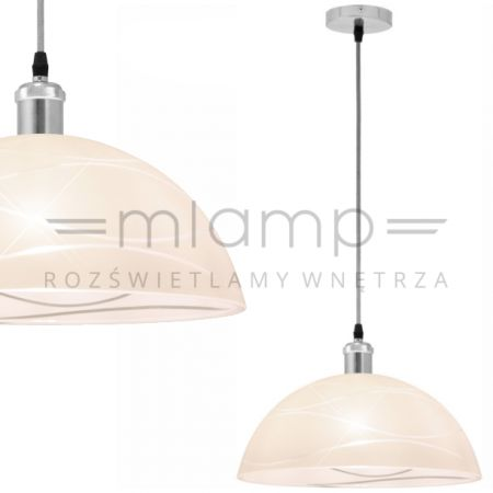 http://mlamp.pl/lampy-wiszace-zyrandole/29245-lampa-wiszaca-ticco-15504h-globo-szklana-oprawa-zwis-kopula-ze-wzorem-nikiel-matowy-ecru.html