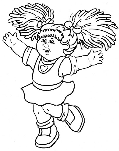 cabbage patch coloring pages - photo#24