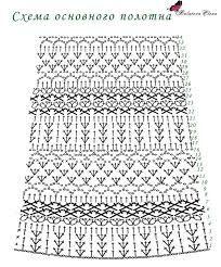 Картинки по запросу line dress pattern crochet