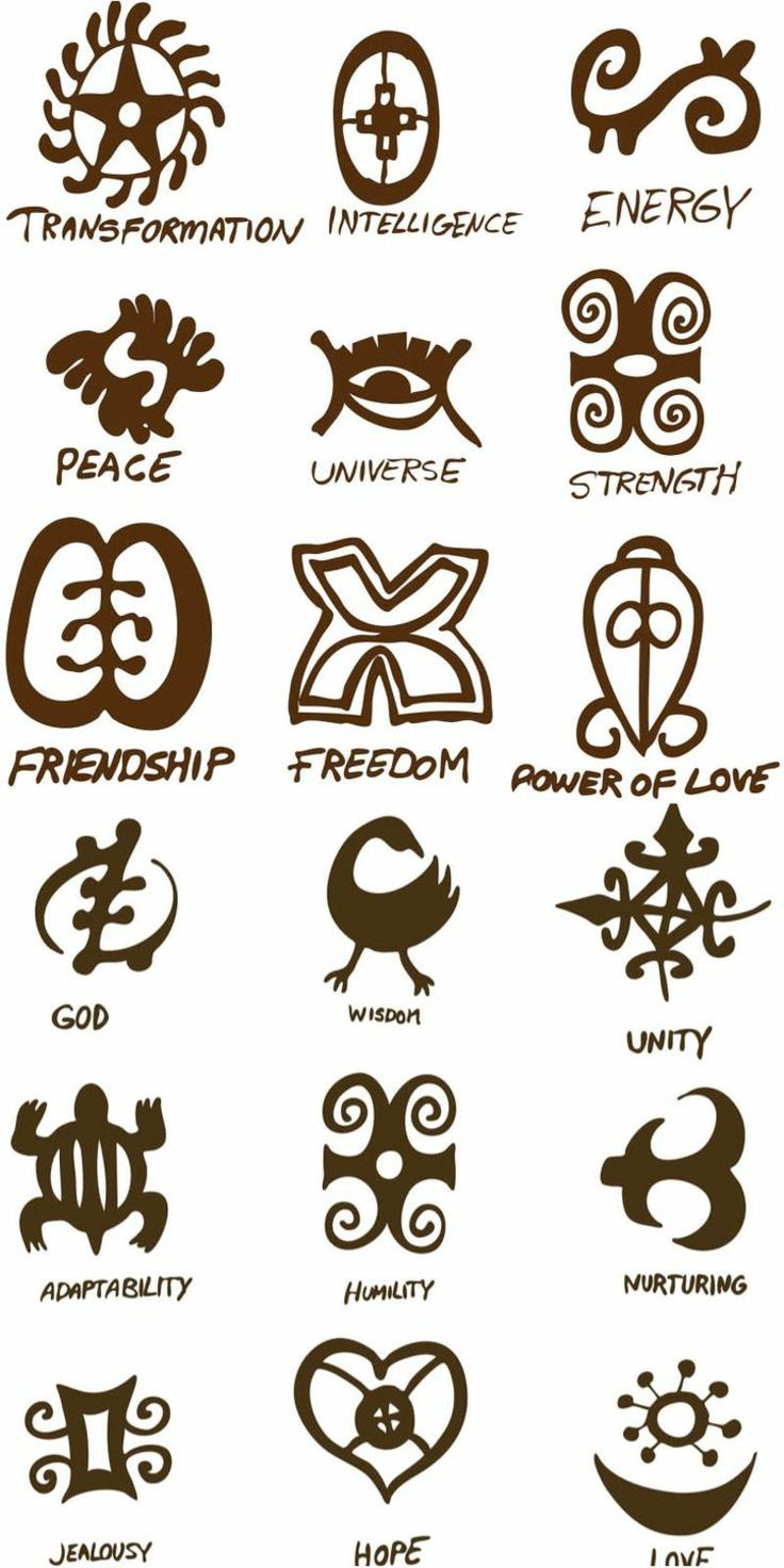 symboles africains comme idées de tatouage avec signification profonde de la culture ancienne