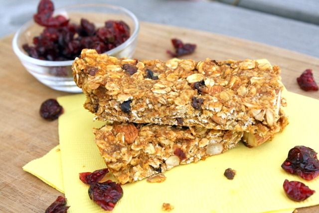 Chewy Pumpkin Spice Granola Bars - these have a nice consistency once ...
