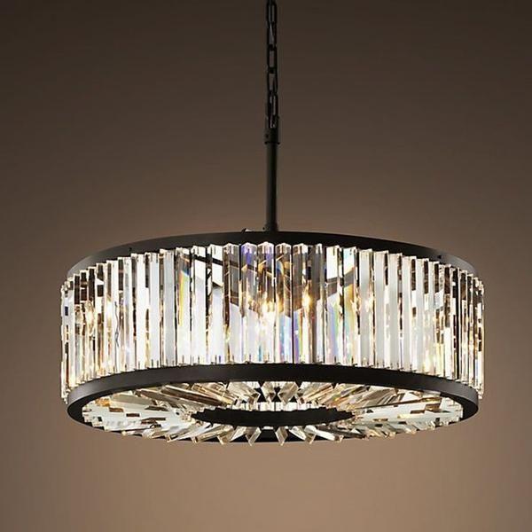Oro Prysm Round Crystal Chandelier With Images Round
