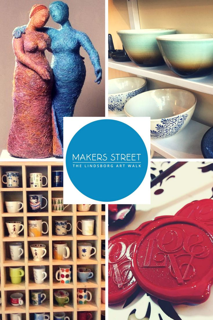 Makers Street - The Lindsborg Art Walk One night a month, watch Main Street in Lindsborg, KS transform to Makers Street! An interactive art walk event featuring artists and crafters (aka: Makers). Enjoy the local late night atmosphere! For more interactive fun tag your posts with #MakerStreetLBK and we may feature yours!