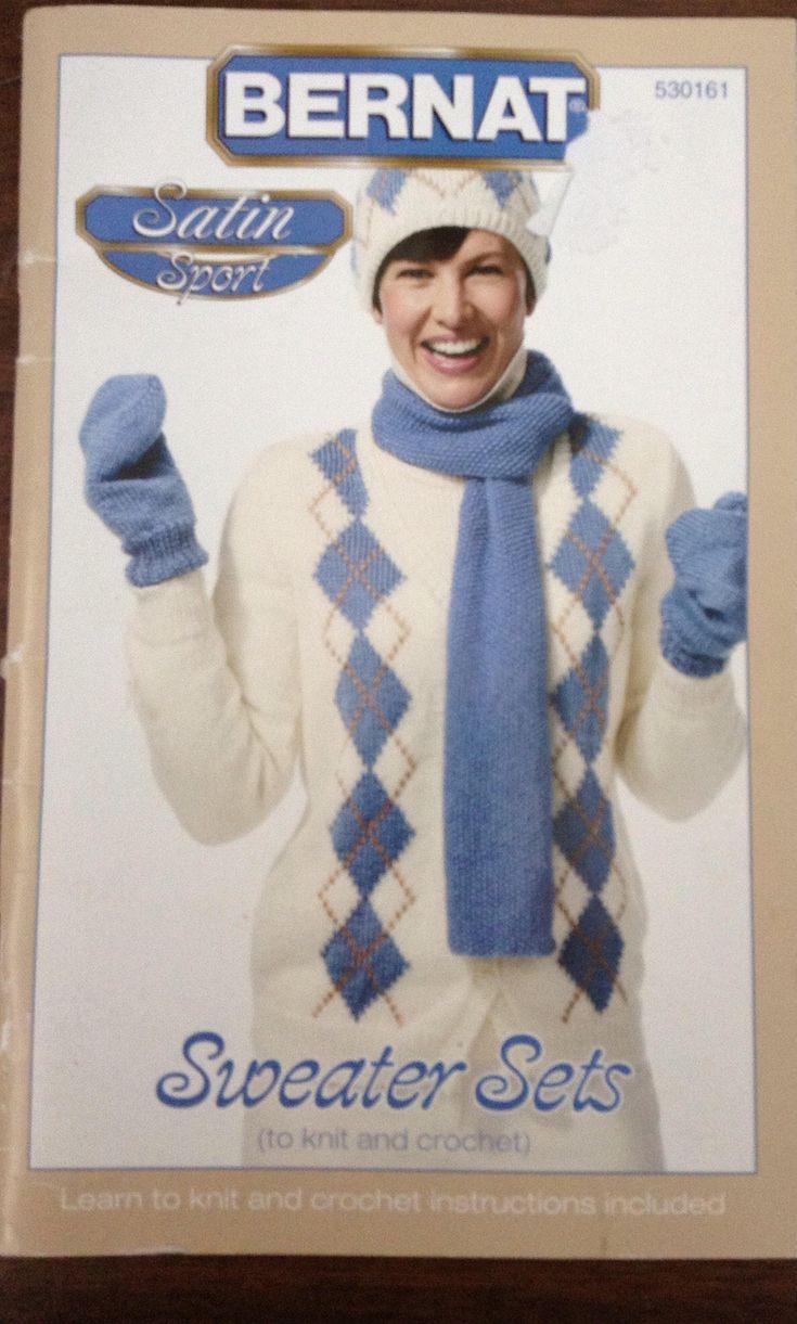 Sweater sets to crochet and knit Bernat instruction booklet by Followlight on Etsy