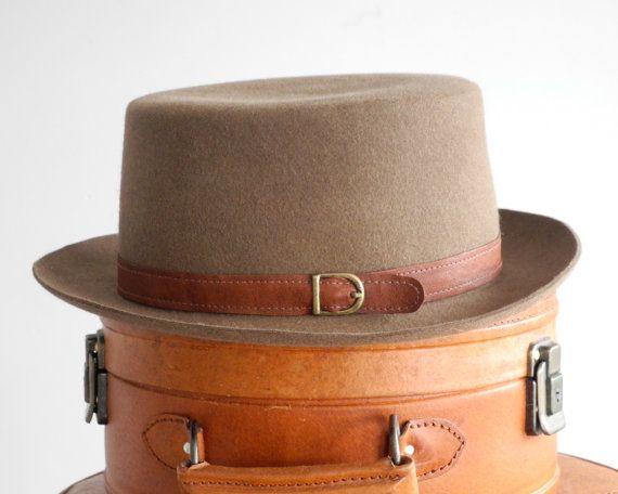 Pork Pie Men's Hat Fall Fashion Winter Accessories door KatarinaHats