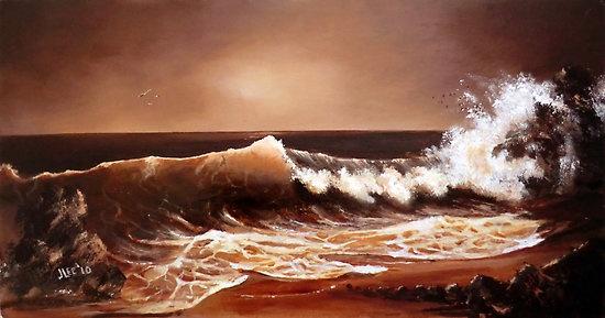 Caramel Coast on Canvas