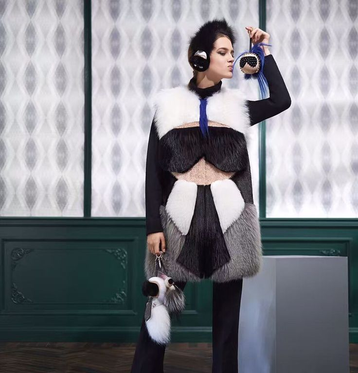 Celebrity piste style de femmes véritable fourrure de renard long gilet avec fourrure de vison de mode marque caractère design vrai fourrure de renard gilets gilet(China (Mainland))