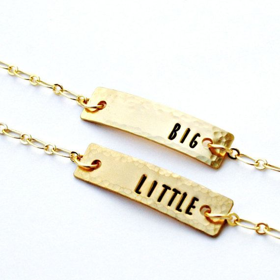 Big Little Sorority Bracelets - Brass OR Sterling Silver with Hand Stamped Letters - Greek, Sisters, Gift for Her, Made to Order • Pinterest • Pinteresting  • Pinterast • Пинтерест • Пинтераст • Пинтерестинг • Етзи  • Этси • Заработок на Этси