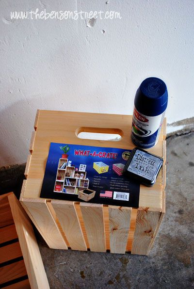 DIY Colorful Crate Book Case {Color My Home Blog Series} - Simply Designing with Ashley