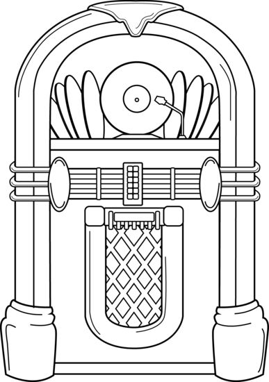 Jukebox Coloring Page