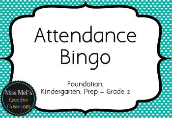 Attendance Bingo for Early Years (Pre-K, Kindergarten, Prep, Foundation, Grade 1, Grade 2) is HERE! Entice your students to be at school everyday by rewarding them with this full attenance incentive! Simply cut out and stick the 100 maths related questions to popsicle sticks, and every time you have 100% attendance at roll-call, select a student to solve the maths problem.