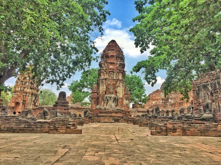 Buda in Ayutthaya, Tailandia