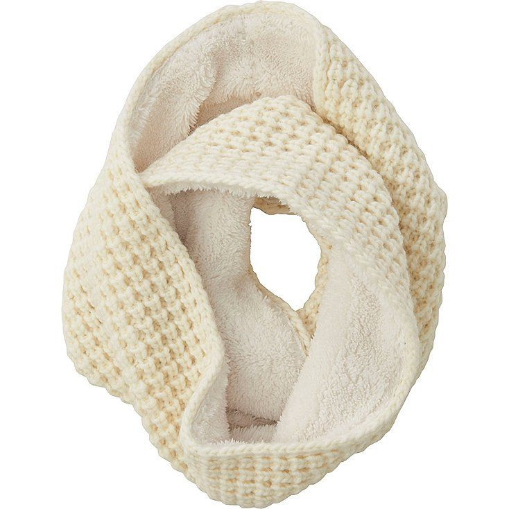 Add cuteness and warmth to your look with this simple snood.<br>- Thick yarn and a waffle knit create a fluffy, cute style.<br>- Boa fleece lining is soft, warm, and comfortable.<br>- Simply wrap it around you for a cute outfit accent.