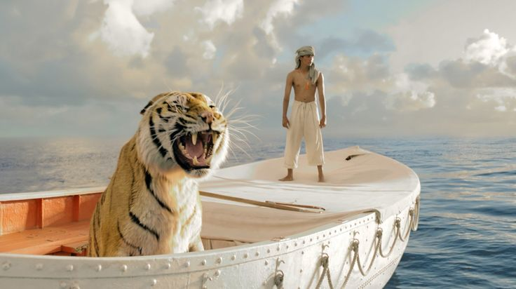Life of Pi - Great Book! First photo from the upcoming movie. Loving the tiger!