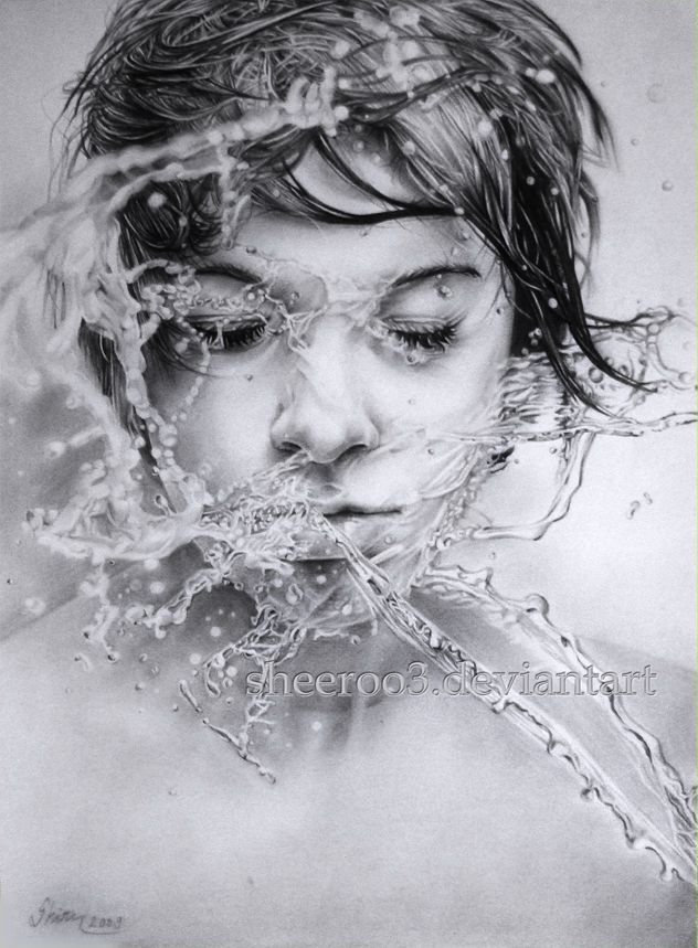Union with water by sheeroo3 deviantart com on deviantart hyperrealism pinterest deviantart water and drawings