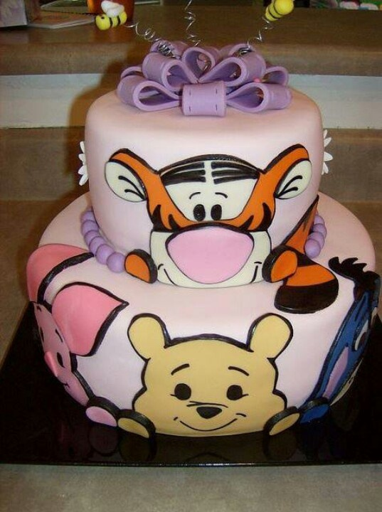 Pooh & Friends 2 tiers cake