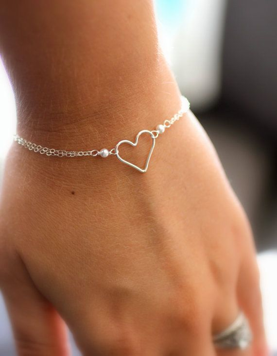 I'd like this for special occasions when the risk of a kid breaking it isnt the r r http://www.etsy.com/listing/110367530/silver-heart-bracelet-eternity-bracelet