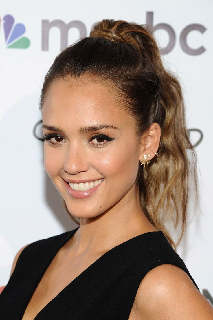 17 Shades of Brown Hair That Are Anything But Blah-Jessica Alba  This actress, entrepreneur, and mom of two's warm hues and well-placed layers would complement any complexion.  From the coolest chestnut to the deepest mahogany, these stars show how to unleash your inner brunette bombshell.