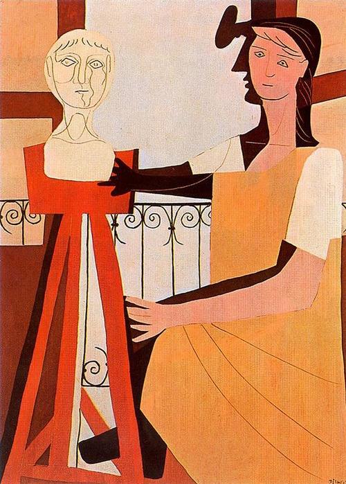 Pablo Picasso - The Sculpture, 1925. art, artwork, paintings