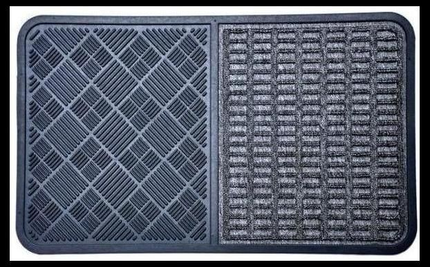 Synthetic Mat - Grey Rubber - Doormat