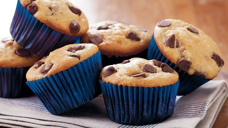 Coffee Walnut Chocolate Chip Muffins Recipe — Dishmaps