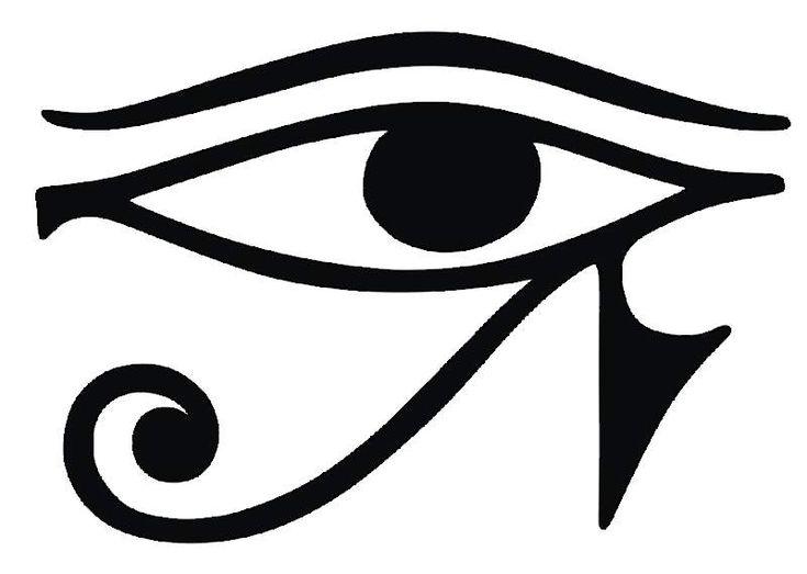 o olho de horus é um amuleto de proteção, podendo ser o sol e a lua, o olho que tudo vê, a ligação do corpo, mente e alma, o universo inteiro.