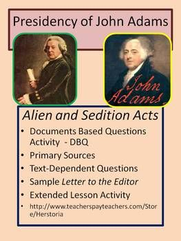 a history of the debate over the alien and sedition acts of 1798 Alien and sedition acts lesson plan how did the virginia and kentucky resolutions add to the growing debate about states' rights what is the alien act of 1798.