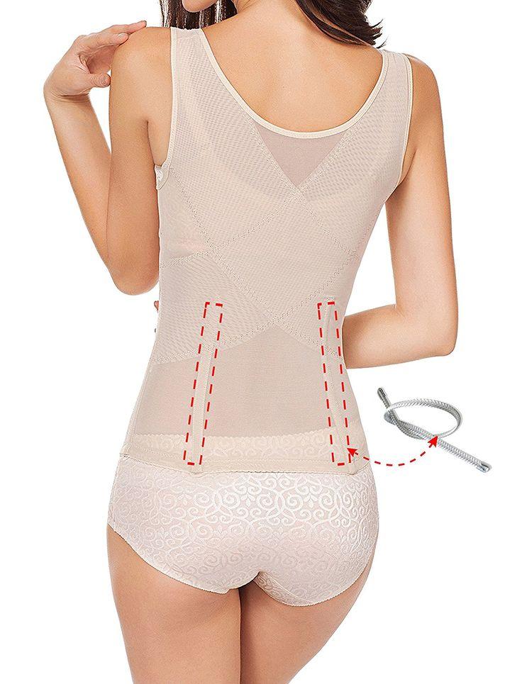 Amazon.com: Plus Size 6 Row Hooks Waist Trainer Vest Fitness Body Shaper For Hourglass: Clothing