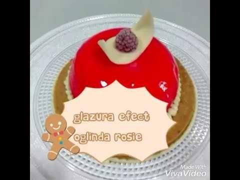Glazura efect oglinda rosie fara glucoza - YouTube