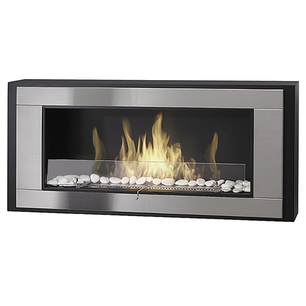Eco-Feu Monte Carlo Wall Mount Liquid Fuel Fireplace ...