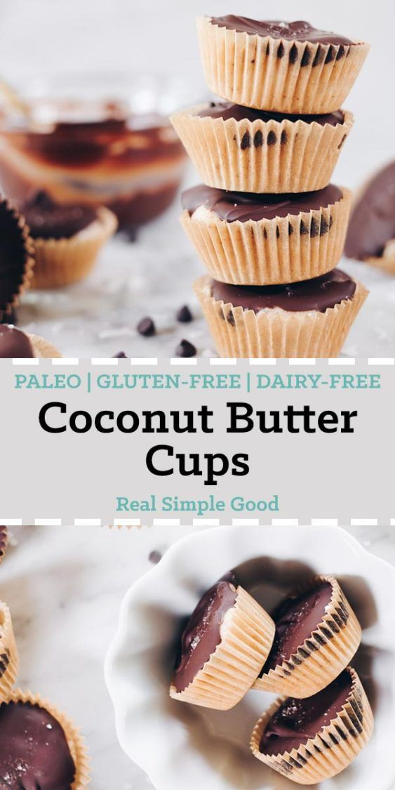 These Paleo coconut butter cups are my latest salty-sweet creation that I've made into the perfect two-bite sized treat! They're gluten-free and dairy-free! | realsimplegood.com
