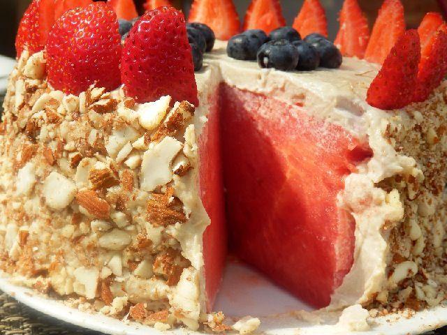 Арбузный торт | Сыроедение рецепты