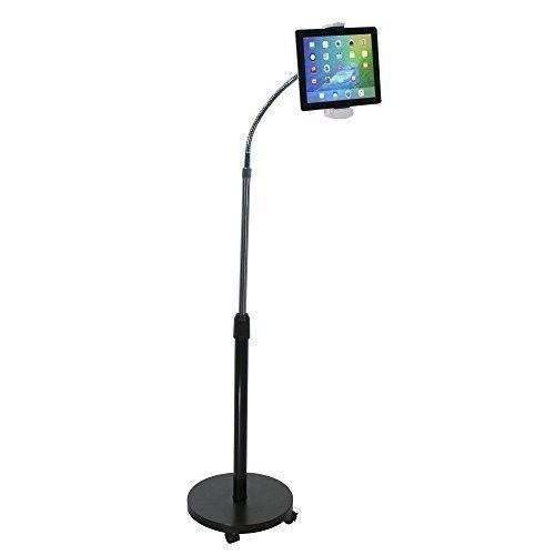 Adjustable Ipad Floor Stand Gooseneck 7-13 Inch Tablets Height Adjusting Dorm  #AdjustableIpadFloorStand