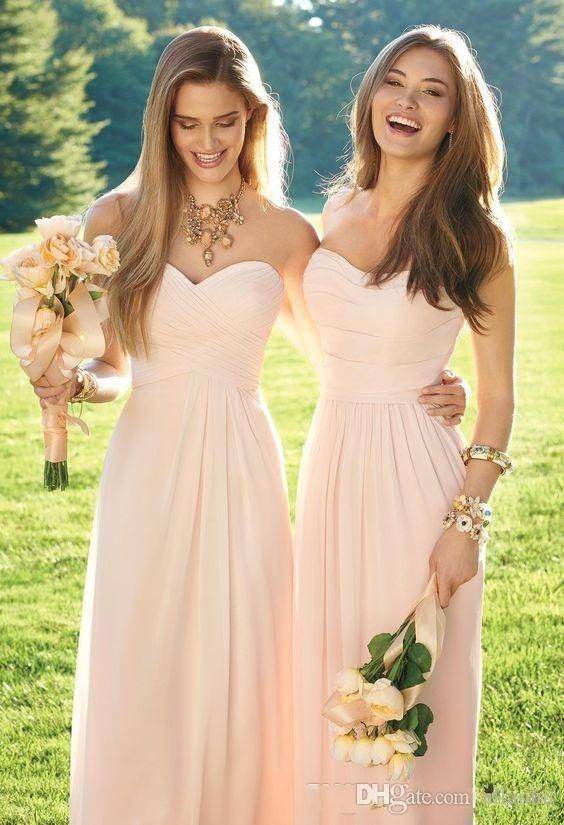 Buy wholesale champagne bridesmaid dress,charcoal bridesmaid dresses along with cute bridesmaid dresses on DHgate.com and the particular good one-2016 pink navy cheap long bridesmaid dresses mixed neckline flow chiffon summer blush bridesmaid formal prom party dresses with ruffles is recommended by allanhu at a discount. #partydresses