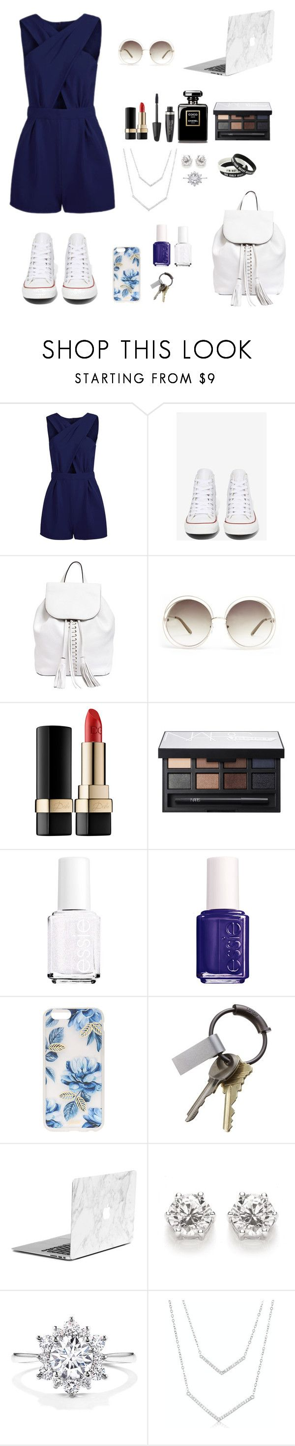 """""""Sporty look"""" by eaton05 ❤ liked on Polyvore featuring Converse, Rebecca Minkoff, Chloé, Dolce&Gabbana, Max Factor, NARS Cosmetics, Essie, Sonix, CB2 and women's clothing"""