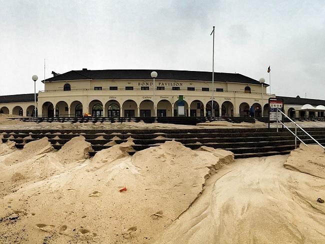 The massive sand build up at Bondi.