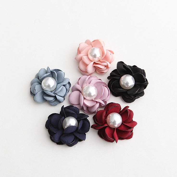 10PC 3D Handmade Flower Patches Fabric Artificial Flowers Sewing Accessories Apparel Hair Bow Supplies Tutu Decoration Crafts #Affiliate