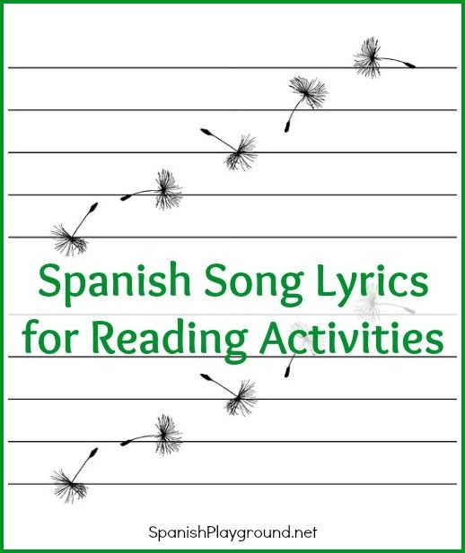 Spanish song lyrics make great reading for kids. 5 fun reading activities to do with songs including a printable make-your-own word search.