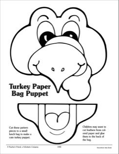 printable turkey puppets 269 best turkey crafts for images on kid 2779