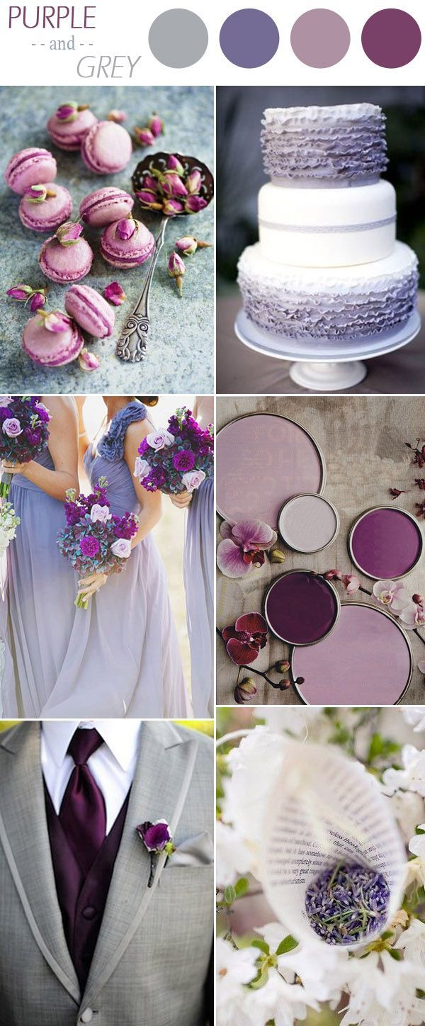 shades of purple and grey fall wedding colors for 2016