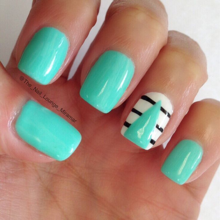 turquoise nail art ideas