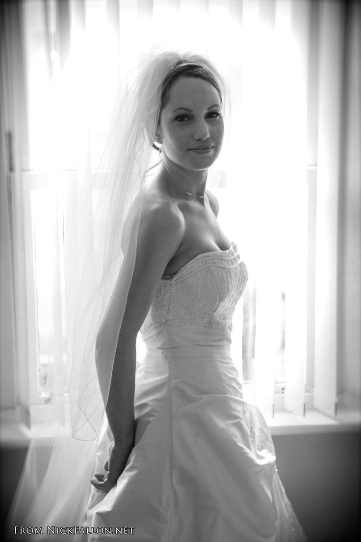 Shot using natural light against a window, Elly made a stunning bride!