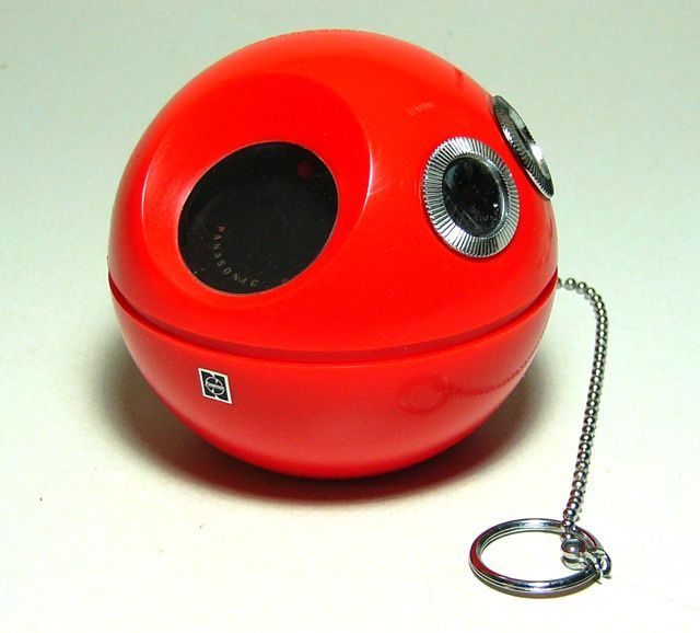 Transistor radio. Mine was this color. It came with stickers and I remember there were two that looked like eyes and I put those on the dials.