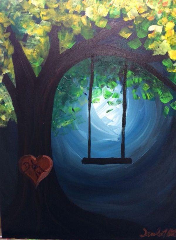 prodigious Simple Acrylic Canvas Painting Ideas Part - 5: 42 Simple Acrylic Canvas Painting Ideas for Beginners
