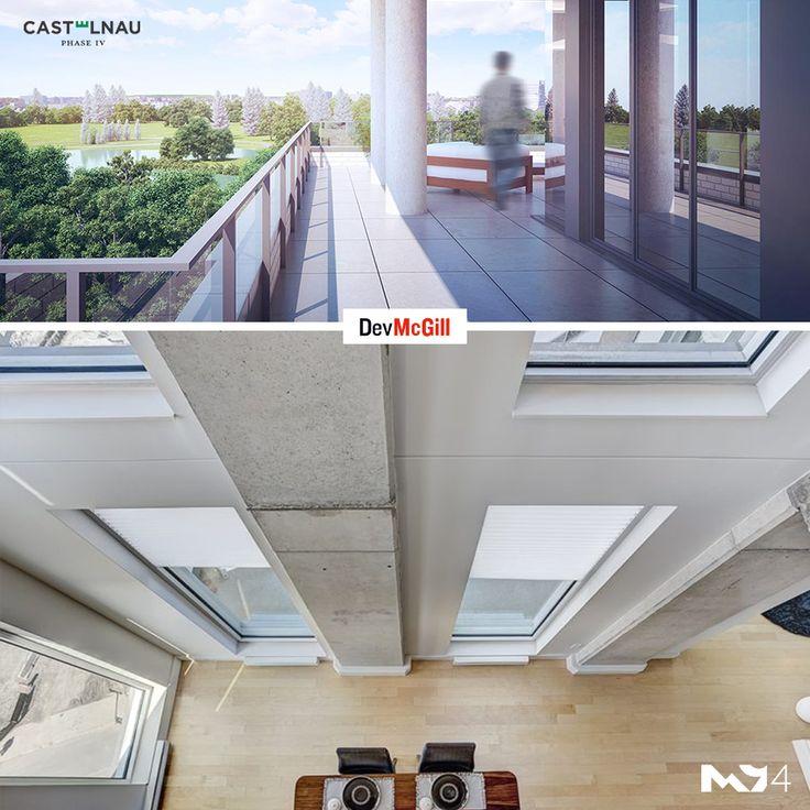 Vivre en condo ne veut pas dire que vous devez renoncer à vos espaces verts. Vous pouvez en effet profiter de belles terrasses sur votre toit et de cours intérieures sans avoir à vous soucier de leur entretien.