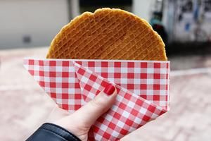 A delicious chewy cookie, the stroopwafel (syrup waffle) was first made in the town of Gouda in the Netherlands during the 18th century. In fact, until 1870 stroopwafels were made only in Gouda and there were about 100 bakeries selling these treats in that city alone. This sweet snack is a waffle cookie made from two thin layers of batter with a sticky syrup filling in the middle. They can be purchased in packages at nearly every grocery store and bakery in the Netherlands, as well as…