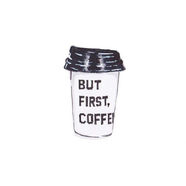But first, coffee » illustrated mug