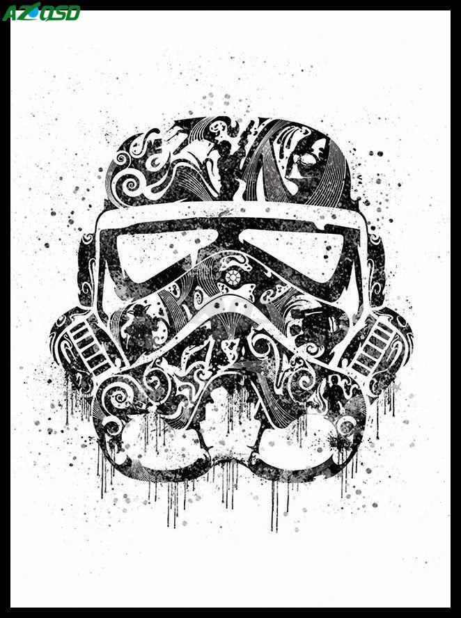 AZQSD Акварель Звездные войны Шлем Маска Дарт Вейдер Поп Кино Арт Принт Плакат, Панно Холст Картина Без рамки PP057купить в магазине AZQSD storeнаAliExpress