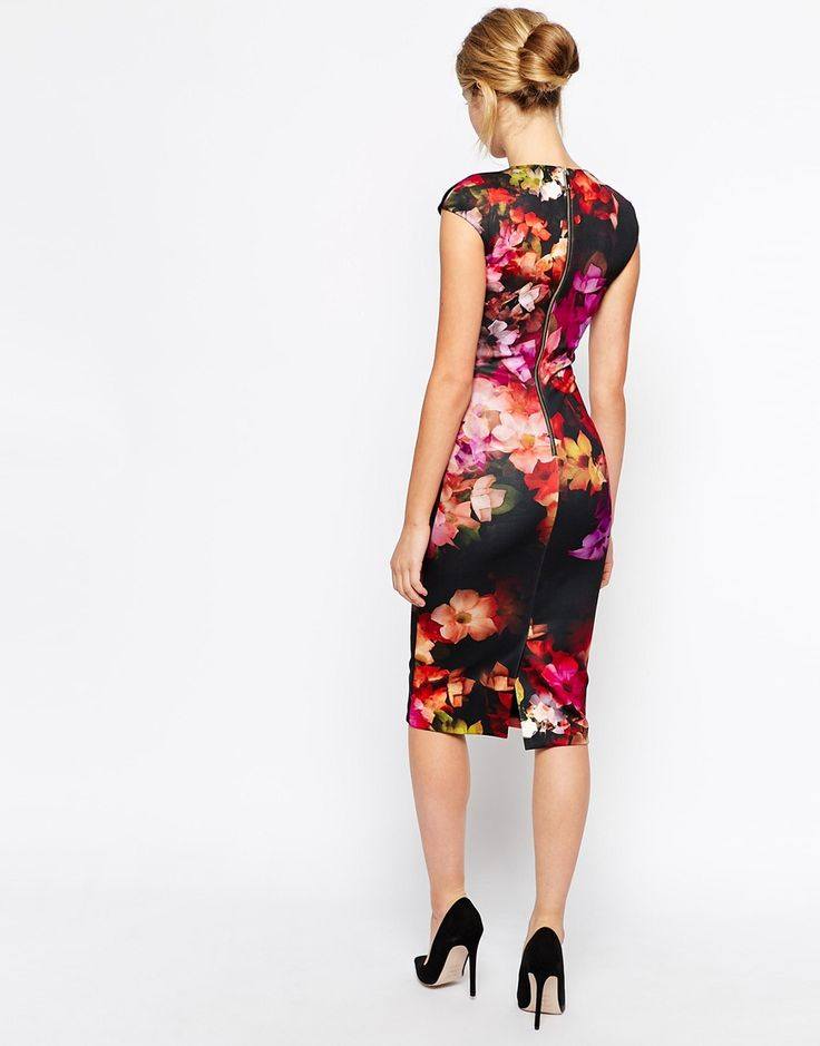 Image 2 of Ted Baker Midi Dress in Cascading Floral Print